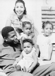 Sidney Poiter with his 1st wife and his children...