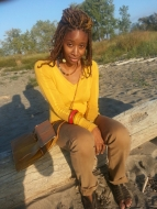 I could live life on the beach, but it was very cold near Lake Erie. Braids by my homegirl Aziza Yasmine.