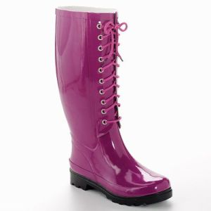 Rain Boots in the Spring- Transitioning from Cold to Warm with Color