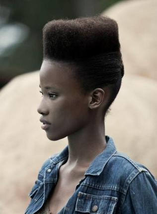 Got this picture from lipstickalley.com. This sister is from Mozambique. Such a lovely cut!