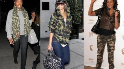 Rihanna's crazy a$$ loves camo.