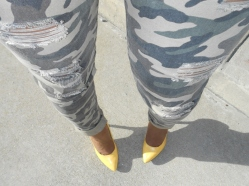 Camo with Yellow Shoes