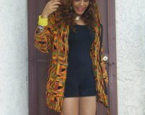 hooded kente cloth jacket? yes!