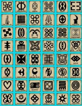 This Adinkra Chart was popularized by African Essence