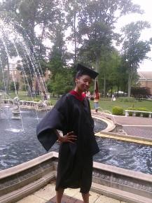Receiving my Master's Degree in Virginia Beach, VA 2010