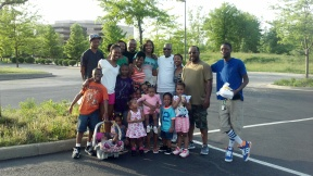 My brothers, sisters, parents, nieces & nephews.