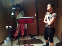 Recording music with artist RaShimba Bloom